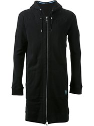 Guild Prime Star Padded Long Zip Up Hoodie Black