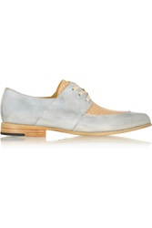 Esquivel Two Tone Leather Brogues Blue
