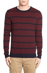Men's Lucky Brand 'Holiday' Regular Fit Stripe Crewneck Sweater