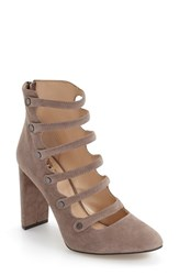 Vince Camuto Women's 'Davel' Block Heel Pump Stone Taupe Suede