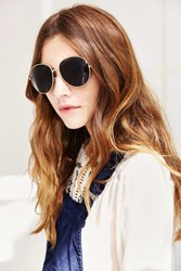 Urban Outfitters Super Model Oversized Round Sunglasses Gold