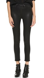 Paige Margot Ankle Skinny Jeans Black Silk