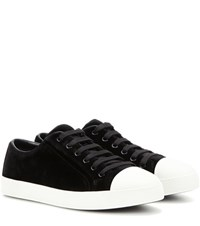 Prada Velvet Sneakers Black