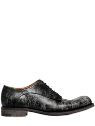 Jil Sander Marble Leather Lace Up Shoes Grey