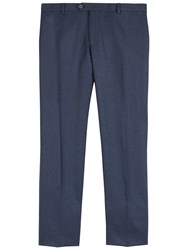 Jaeger Salt And Pepper Slim Trousers Navy