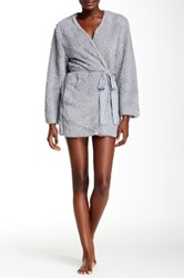Josie Shaggy Wrap Robe Gray
