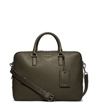 Michael Kors Bryant Large Leather Briefcase Army