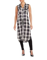 Blank Nyc Cotton Plaid Duster It'll Happen