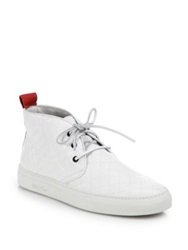 Del Toro Quilted Leather Chukka Sneakers White