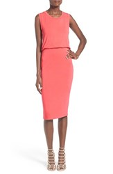 Leith Women's Sleeveless Midi Dress Coral Sharon