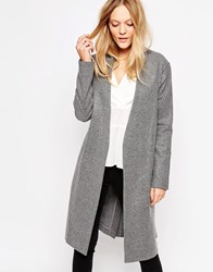 Just Female Wire Wrap Coat Grey Melange