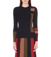 Whistles Striped Rib Knit Jumper Multi Coloured
