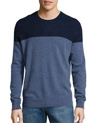 Black Brown Colorblocked Cashmere Sweater Winter Navy