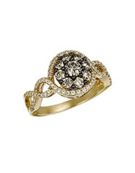 Le Vian Chocolatier Vanilla Diamond Chocolate Diamond And 14K Yellow Gold Ring 1.09 Tcw