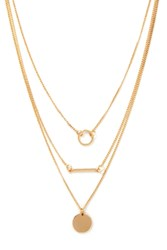 Forever 21 Layered Disc Necklace