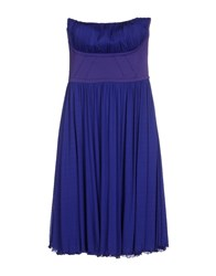 Alessandro Dell'acqua Dresses Knee Length Dresses Women Purple