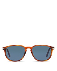 Persol Square Keyhole Thin Sunglasses Light Tortoise