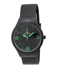 Toywatch Black Mesh Bracelet Watch Green