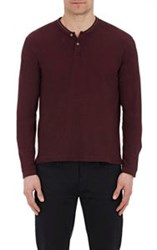 Atm Anthony Thomas Melillo Pique Henley Red