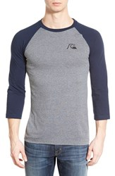 Men's Quiksilver 'Bubble Rio' Raglan Baseball T Shirt Dark Denim