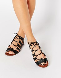 Oasis Lace Up Ghillie Black