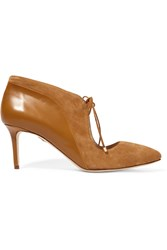 Chelsea Paris Ized Suede And Leather Pumps Brown