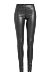 Joseph Leather Leggings Black