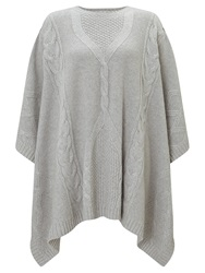 Alice By Temperley Somerset By Alice Temperley Cable Knit Cape Grey