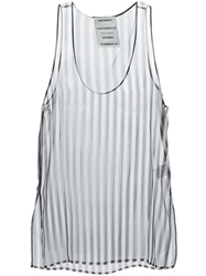 Anthony Vaccarello Striped Tank Top