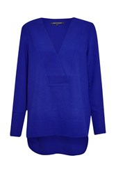 French Connection Arrow Crepe Tunic Blue