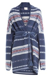 Claudia Schiffer Wool And Cashmere Cardigan Blue