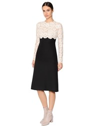 Valentino Two Tone Lace And Crepe Couture Dress