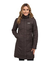 Jack Wolfskin Nova Iceguard Coat Dark Steel Women's Coat Brown