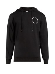 Etudes Europa Cotton Blend Hooded Sweatshirt Black