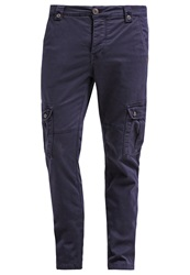 Japan Rags Tom Cargo Trousers Night Dark Blue