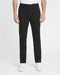 M.Studio Black Dimitri Ii Cotton Fitted Chinos