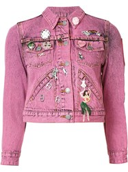 Marc Jacobs Shrunken Embellished Jacket Pink Purple