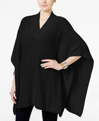 Styleandco. Style Co. V Neck Sweater Poncho Only At Macy's Deep Black