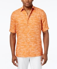 Tasso Elba Men's Classic Fit Graphic Print Short Sleeve Shirt Only At Macy's Sun Combo