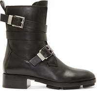 Alexander Wang Black Leather Motorcycle Louise Boots