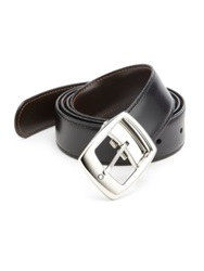 Montblanc Star Leather Belt Black Brown