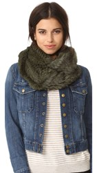 Jocelyn Knitted Infinity Scarf Chive