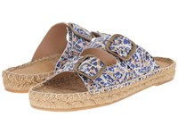 Penelope Chilvers Pool Slide Alhambra Blue White Women's Shoes