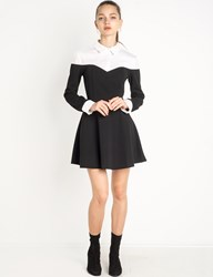 Pixie Market Black And White Fit And Flare Shirt Dress