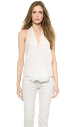 Donna Karan New York Sleeveless Petal Blouse Chalk