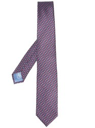 Brioni Patterned Tie Blue