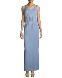Halston Heritage Sleeveless Scoop Neck Maxi Dress Lavender Purple