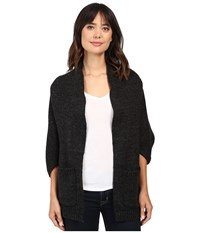 Christin Michaels Clarrisa Shrug Cardigan With Pockets Charcoal Women's Sweater Gray