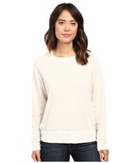 Allen Allen Long Sleeve Crew Sweatshirt Sandbox Women's Sweatshirt White