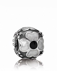 Pandora Design Pandora Charm Sterling Silver And White Enamel Daisy Moments Collection Silver White